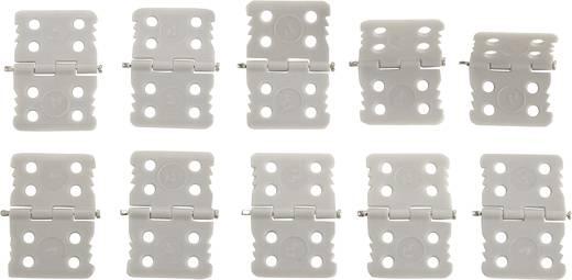 Scharnier Rechteckig Kunststoff (glasfaserverstärkt) Modelcraft (L x B) 24 mm x 15 mm 10 St.