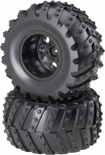 Reely 1:10 Monstertruck Kompletträder Traktor 5-Speichen Schwarz 2 St.