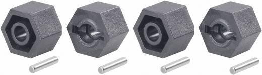 1:10 Kunststoff-Felgenmitnehmer 12 mm 6-Kant Reely Schwarz 1 Set