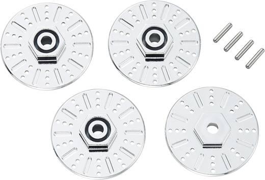 1:10 Bremsscheibenimitat-Felgenmitnehmer 12 mm 6-Kant 5 mm mit Spurverbreiterung 5 mm Reely Chrom 2 St.