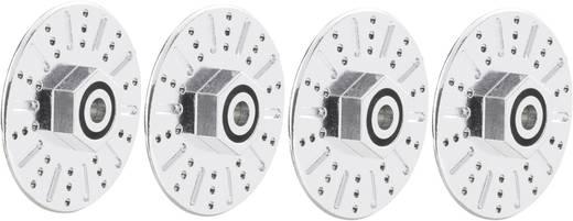 1:10 Bremsscheibenimitat-Felgenmitnehmer 12 mm 6-Kant mit Spurverbreiterung 10 mm Reely Chrom 2 St.