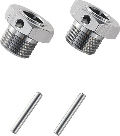 1:8 Alu-Felgenmitnehmer 17 mm 6-Kant Reely Titanium 1 Paar