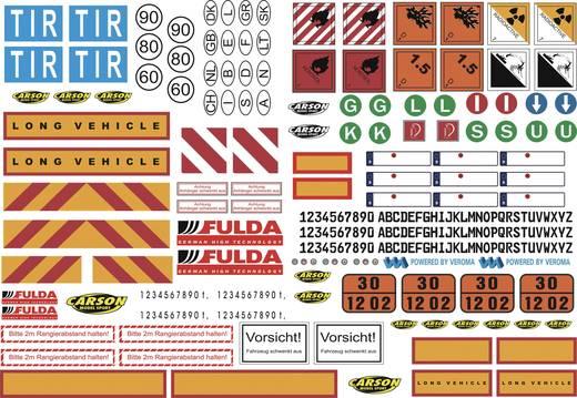Carson Modellsport 907086 1:14 Dekorbogen LKW Warnsymbole 1 St.