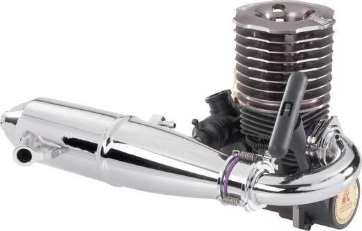 1:8 Schalldämpfer-Krümmer-Set Chrom (glänzend) Passend für: 3,46 - 4,58cm³ Nitromotoren Force Engine