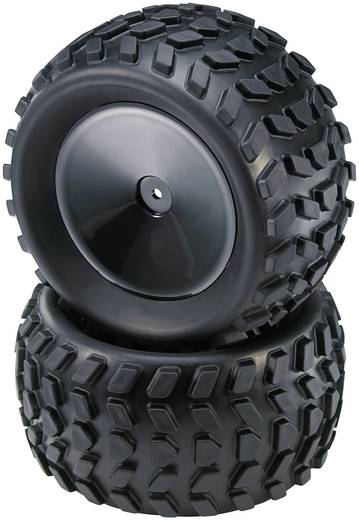 Reely 1:10 Monstertruck Kompletträder Stollen Disk Schwarz 2 St.