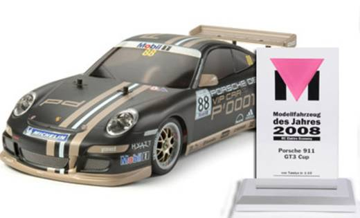 Tamiya TT-01E Porsche 911 GT3 Cup VIP 2007 Brushed 1:10 RC Modellauto Elektro Straßenmodell Allradantrieb Bausatz