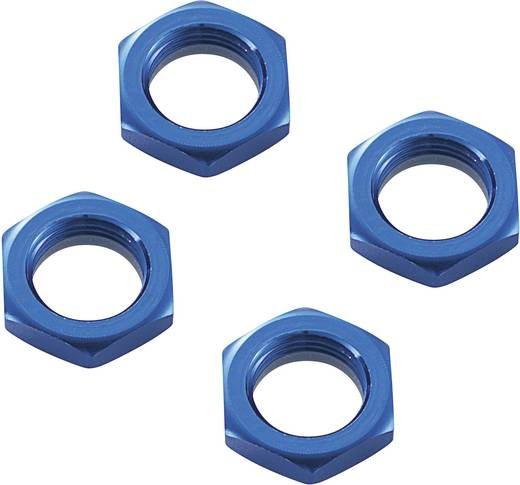 1:8 Radmuttern selbstsichernd Reely SEM106B Blau 4 St.
