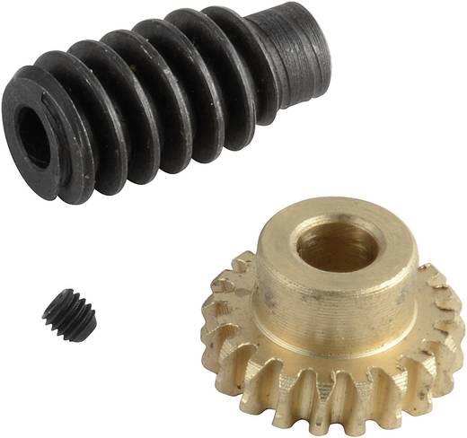 Messing, Stahl Schneckenradsatz Reely Modul-Typ: 0.75 Anzahl Zähne: 20