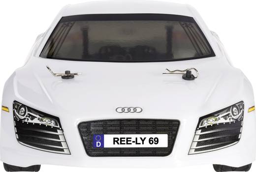 Reely 210113PR 1:10 Karosserie Audi R8 White Lackiert, geschnitten, dekoriert