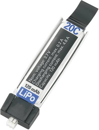Modellbau-Akkupack (LiPo) 3.7 V 120 mAh Zellen-Zahl: 1 20 C Conrad energy Minium