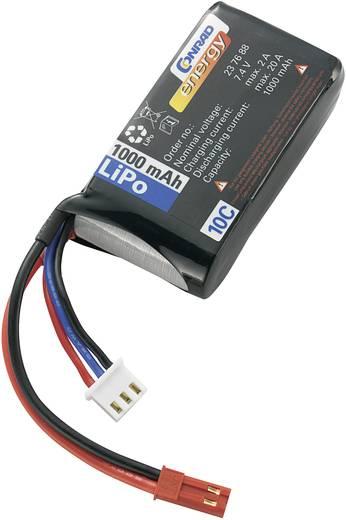 Modellbau-Akkupack (LiPo) 7.4 V 1000 mAh 10 C Conrad energy BEC