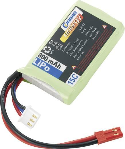 Conrad energy Modellbau-Akkupack (LiPo) 7.4 V 890 mAh Zellen-Zahl: 2 10 C Stick BEC