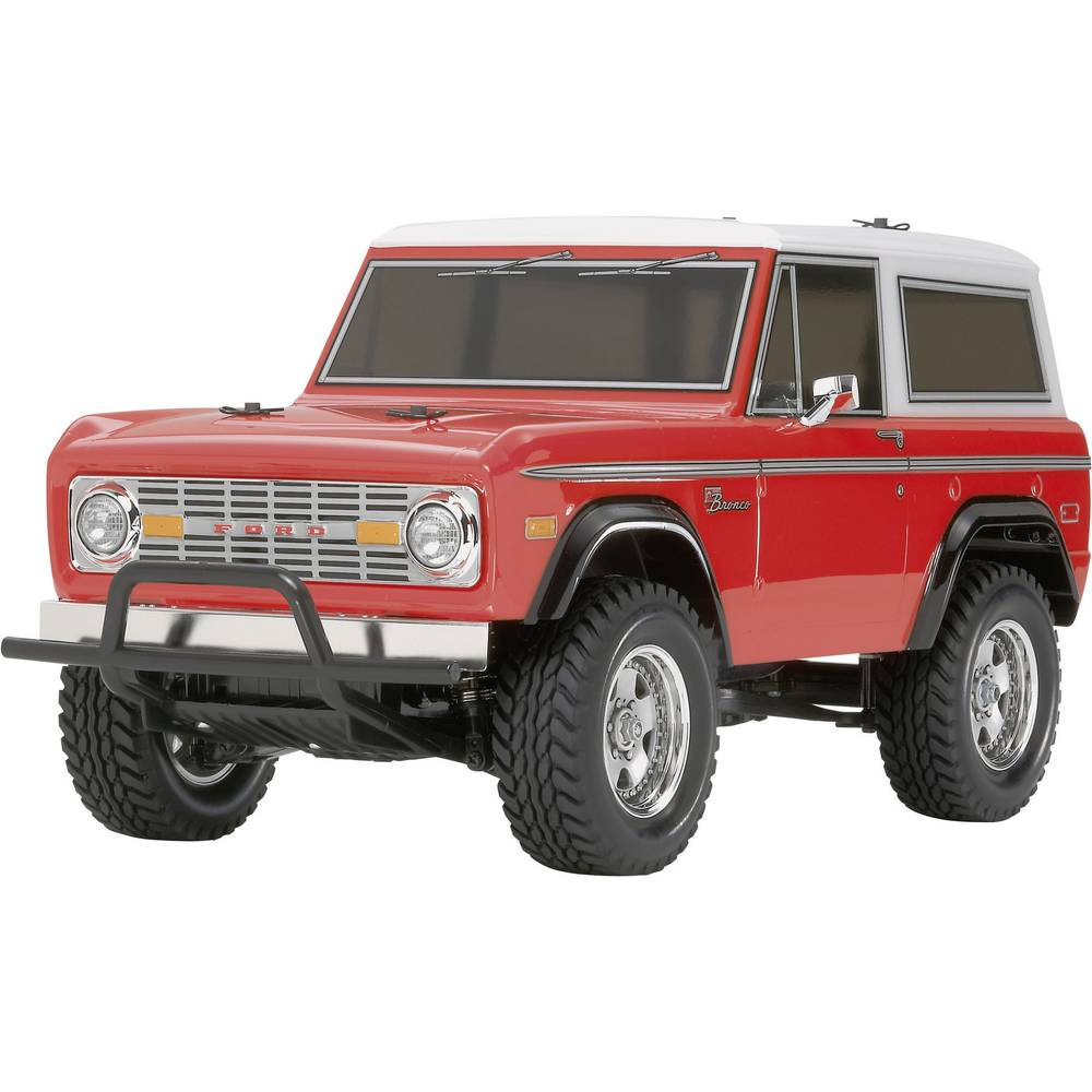 v hicule tout terrain lectrique tamiya ford bronco 1973 brushed 4 roues motrices kit monter 1. Black Bedroom Furniture Sets. Home Design Ideas