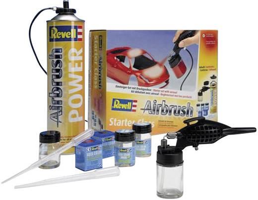 Airbrush-Einsteiger-Set mit Druckluftdose Revell 39196 Single Action