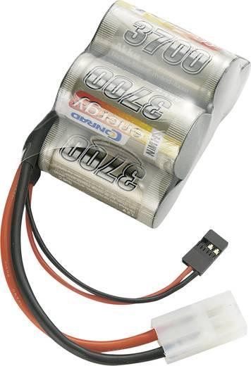 Modellbau-Empfängerakku (NiMh) 6 V 3700 mAh Conrad energy Hump Tamiya-Stecker, JR-Buchse
