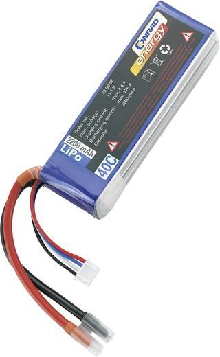 Conrad energy Modellbau-Akkupack (LiPo) 11.1 V 2200 mAh Zellen-Zahl: 3 40 C Stick Offene Kabelenden