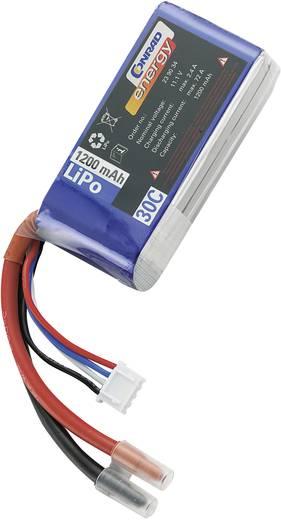 Modellbau-Akkupack (LiPo) 11.1 V 1200 mAh 30 C Conrad energy Stick Offene Kabelenden