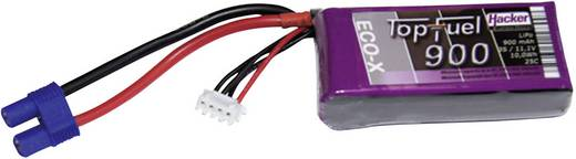 Modellbau-Akkupack (LiPo) 11.1 V 900 mAh Zellen-Zahl: 3 25 C Hacker EC3
