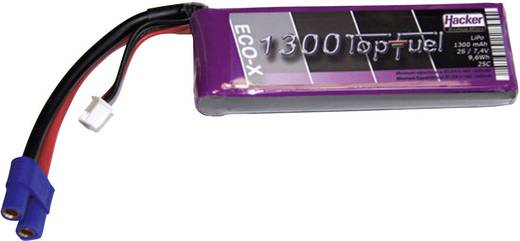 Hacker Modellbau-Akkupack (LiPo) 7.4 V 1300 mAh Zellen-Zahl: 2 25 C Stick EC3