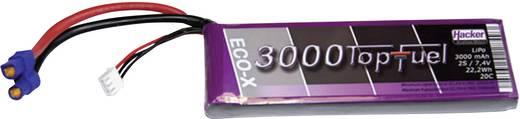 Modellbau-Akkupack (LiPo) 7.4 V 3000 mAh Zellen-Zahl: 2 20 C Hacker EC3