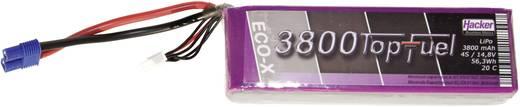 Hacker Modellbau-Akkupack (LiPo) 14.8 V 3800 mAh Zellen-Zahl: 4 20 C Stick EC3