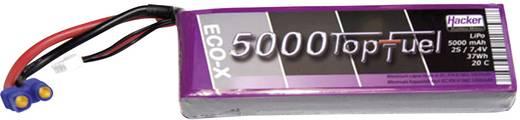 Modellbau-Akkupack (LiPo) 7.4 V 5000 mAh Zellen-Zahl: 2 20 C Hacker EC5