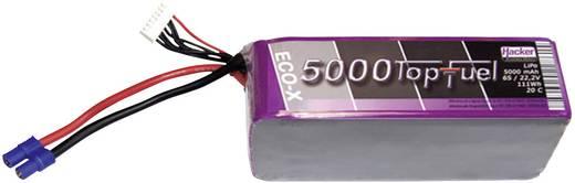 Modellbau-Akkupack (LiPo) 22.2 V 5000 mAh Zellen-Zahl: 6 20 C Hacker EC5