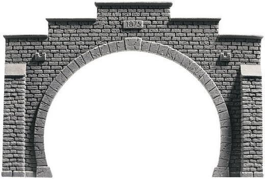 N Tunnel-Portal PROFI plus 2gleisig Hartschaum-Fertigmodell, Unbemalt NOCH 34842