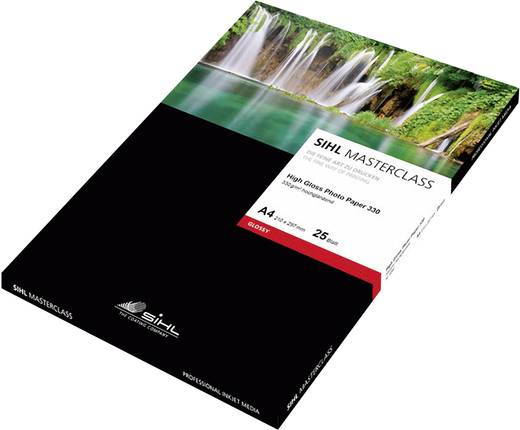 Fotopapier SIHL Direct MASTERCLASS High Gloss Photo Paper 12033976 DIN A3+ 330 g/m² 25 Blatt Hochglänzend