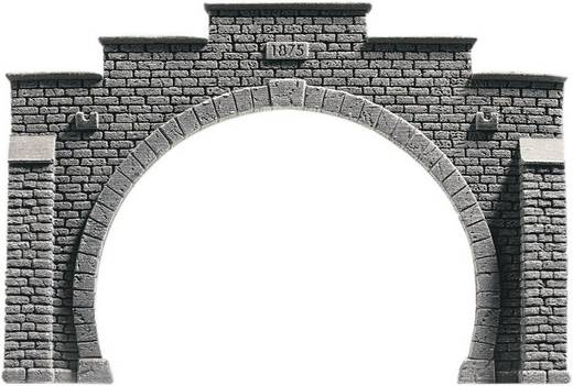 N Tunnel-Portal PROFI plus 2gleisig Hartschaum-Fertigmodell, Bemalt NOCH 34852