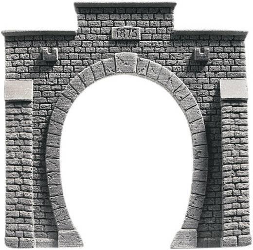 N Tunnel-Portal PROFI plus 1gleisig Hartschaum-Fertigmodell, Bemalt NOCH 34851