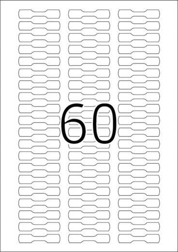 Herma 5116 Etiketten 49 x 10 mm Papier Weiß 1500 St. Permanent Ring-Etiketten Tinte, Laser, Kopie