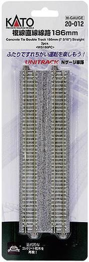 N Kato Unitrack 7078020 Doppelgleis, gerade 186 mm