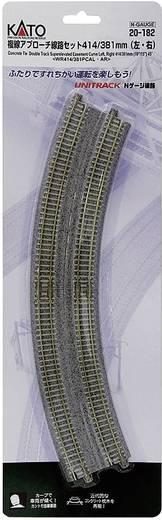 N Kato Unitrack 7078115 Doppelgleis, gebogen 22.5 ° 381 mm, 414 mm