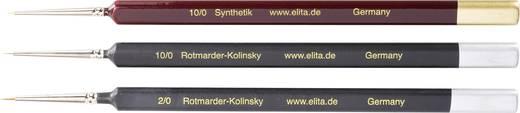 Rotmarder / Synthetik- Pinsel, 3 Stück Stärke 10/0, 10/0 und 2/0 Elita 51172