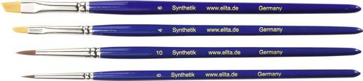 Elita Pulver+Flüssigfarben-Alterungs-Pinsel (Synthetik), 4 Stück
