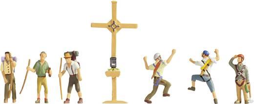 NOCH 15874 H0 Figuren Bergwanderer mit Gipfelkreuz