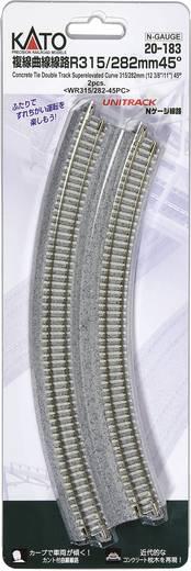 N Kato Unitrack 7078116 Doppelgleis, gebogen, überhöht 45 ° 282 mm, 315 mm