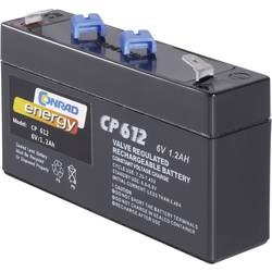 Image of Conrad energy CE6V/1,2Ah 250091 Bleiakku 6 V 1.2 Ah Blei-Vlies (AGM) (B x H x T) 97 x 51 x 25 mm Flachstecker 4.8 mm