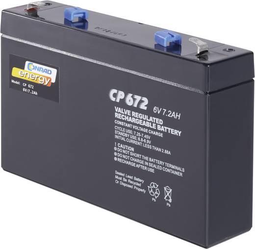 Conrad energy CE6V/7Ah 250129 Bleiakku 6 V 7 Ah Blei-Vlies (AGM) (B x H x T) 151 x 94 x 34 mm Flachstecker 4.8 mm Wartun