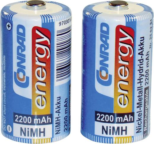Baby (C)-Akku NiMH Conrad energy HR14 2200 mAh 1.2 V 2 St.