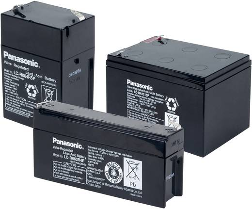Bleiakku 12 V 1.3 Ah Panasonic 12 V 1,3 Ah LC-R121R3PG Blei-Vlies (AGM) (B x H x T) 97 x 50 x 48 mm Flachstecker 4.8 mm