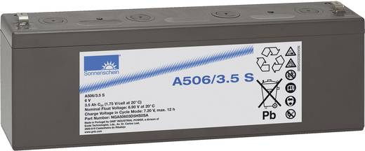 Bleiakku 6 V 3.5 Ah GNB Sonnenschein A506/3,5 S NGA50603D5HS0SA Blei-Gel (B x H x T) 135 x 65 x 35 mm Flachstecker 4.8 m