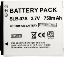 Náhradní baterie pro kamery Conrad Energy SLB-07A, 3,7 V, 500 mAh