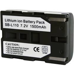 Li-Ion akumulátor pro videokameru SAMSUNG SB-L110, 7,4 V, 1500 mAh, černá
