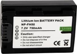 Náhradní baterie pro kamery Conrad Energy NP-FH50, 7,2 V, 550 mAh