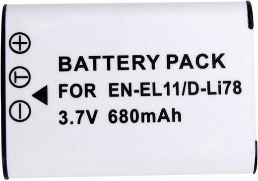 Kamera-Akku Conrad energy ersetzt Original-Akku EN-EL11 3.7 V 450 mAh