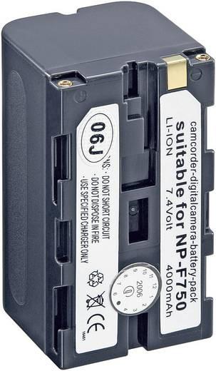 Conrad energy 250512 Kamera-Akku ersetzt Original-Akku NP-F750 7.2 V 4000 mAh