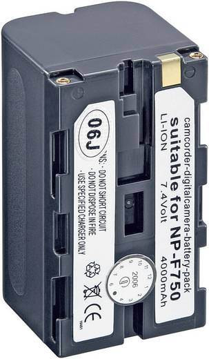 Kamera-Akku Conrad energy ersetzt Original-Akku NP-F750 7.2 V 4000 mAh 250512