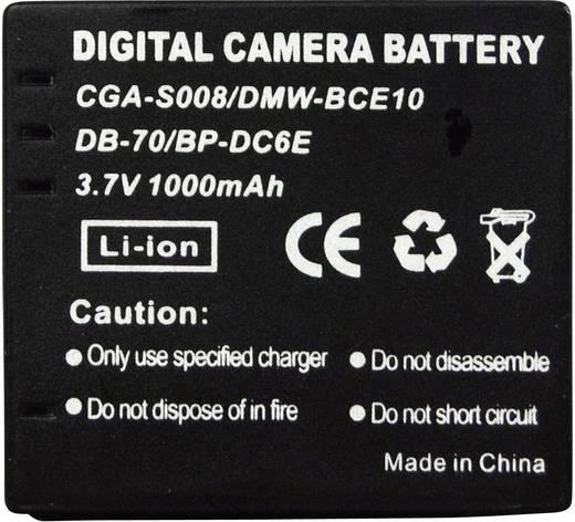 Kamera-Akku Conrad energy ersetzt Original-Akku CGA-S008, DP-330, DMW-BCE10, DB-70, BP-DC6E 3.7 V 650 mAh